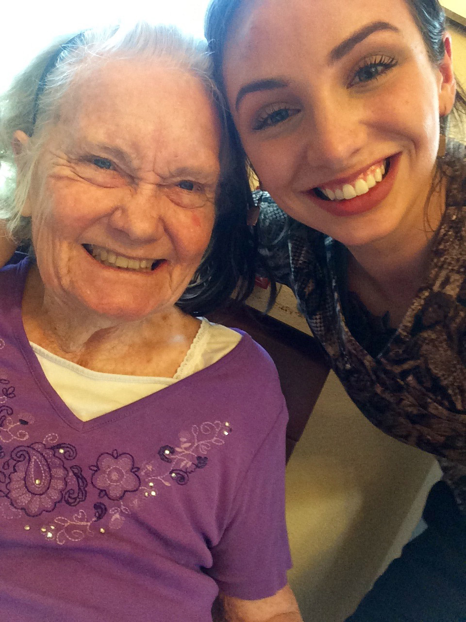 gabby and resident at riva ridge assisted living center